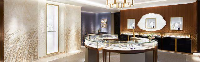 Salon Chaumet bijoux haut de gamme, éclairage SOKA